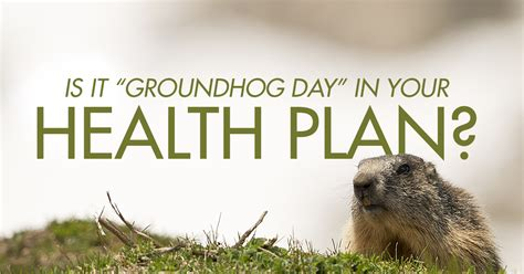groundhog day what does it is it groundhog day in your health plan