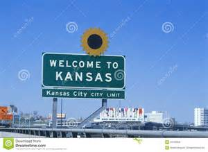 Welcome To Sign Welcome To Kansas Sign Editorial Stock Photo Image 23166058