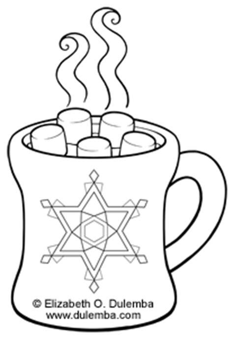 hot chocolate mug coloring page