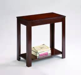 small storage table espresso chairside table small storage end table
