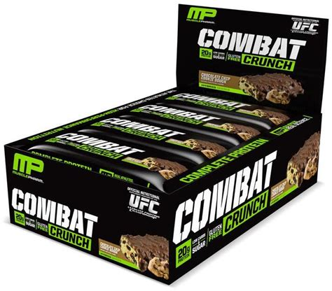 Musclepharm Combat Crunch Bar 12 Buah musclepharm combat crunch bars bodybuilding and sports