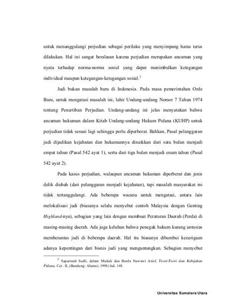 Patologi Sosial Jilid3 bab 1 tesis judi biasa usu
