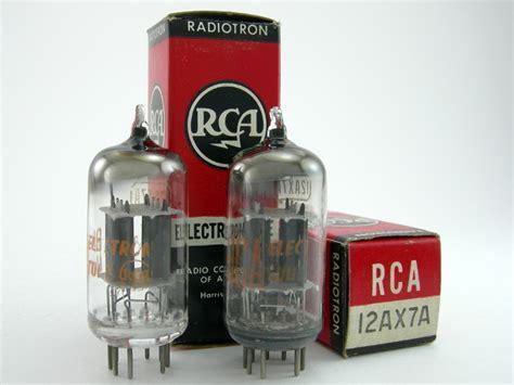 6146 Match Pair Rca rca 12ax7a matched pair gray plates