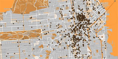 san francisco excrement map this san francisco map proves the city has a major
