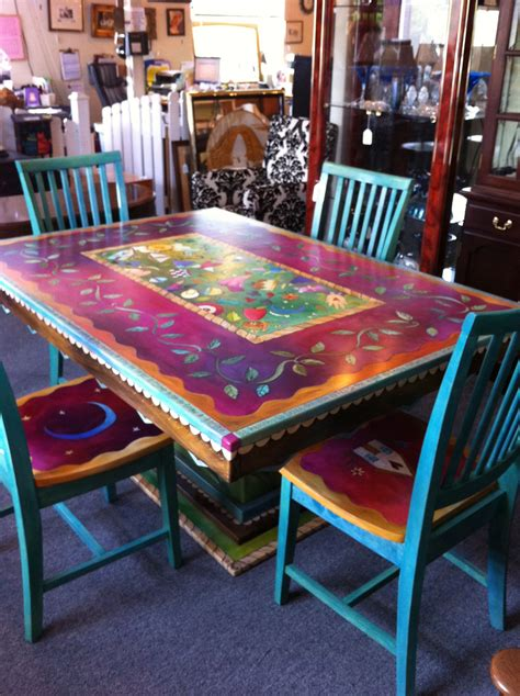 hand painted dining room tables love this table painted furniture paint furnitu on regency