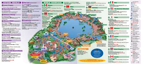 map of epcot epcot park map