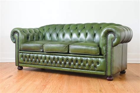 chesterfield sofa made in england green leather chesterfield