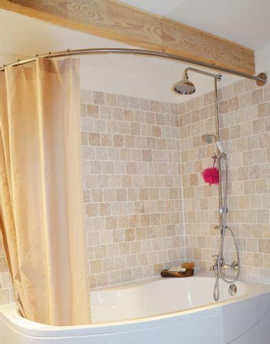 tringle pour baignoire barre rideau de pour baignoire asymetrique