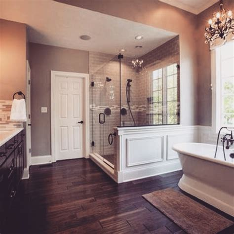 pretty bathroom beautiful master bath love the quot hardwood quot tiles gorgeous