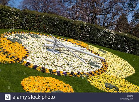 Geneva Flowers 18 flower clock in garden geneva city center