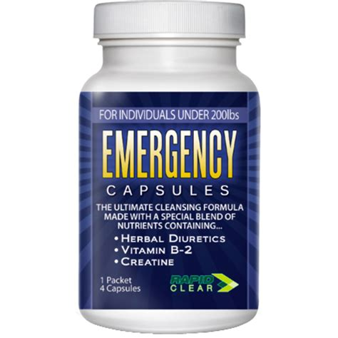 Detox Pills To Pass Urine Test by Emergency Detox Capsules