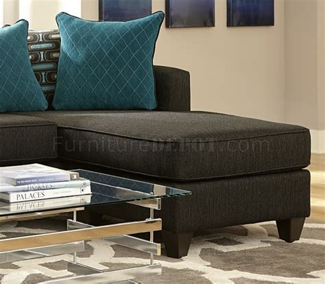 Black Chenille Sofa by 3002 Sectional Sofa In Charcoal Black Chenille Fabric