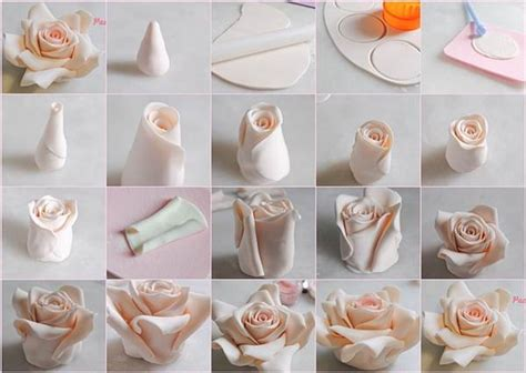 How To Make Edible Cake Decorations At Home | diy beautiful fondant roses for cake decoration