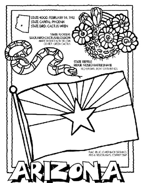 coloring pages for united states symbols arizona coloring page crayola