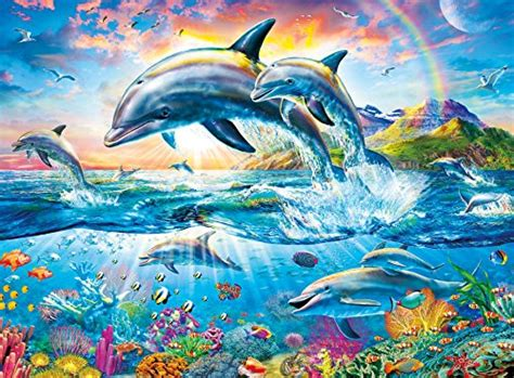 colorful dolphins colorful jigsaw puzzles jigsaw puzzles for adults