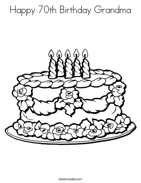 happy 70th birthday grandma coloring page twisty noodle