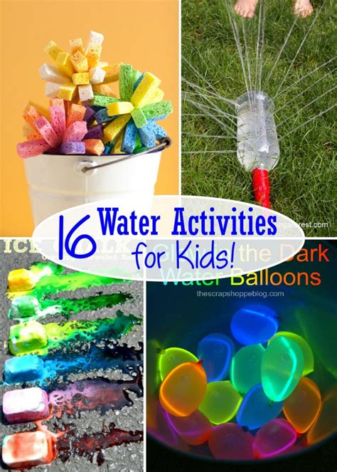water for children 16 water activities for the scrap shoppe