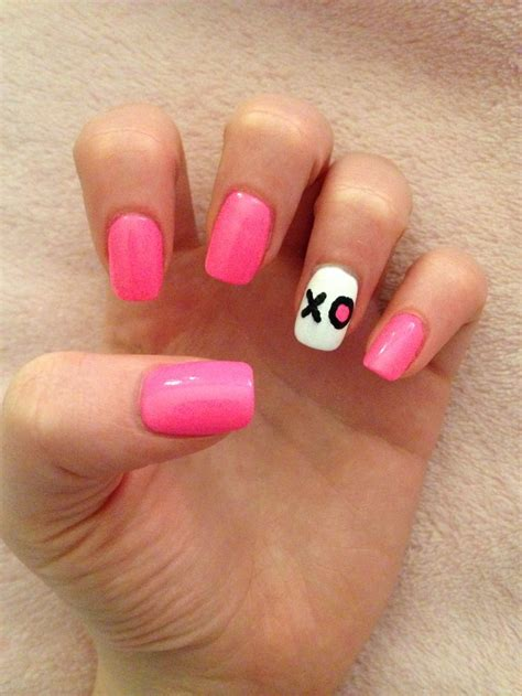 acrylic nails for valentines pink acrylic nail xo s day nails