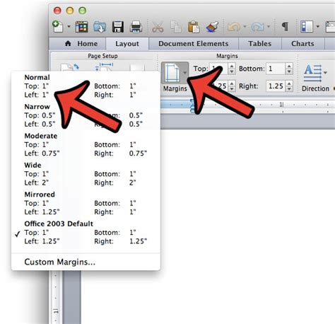 how to set 1 inch margins in word 2011 solve your tech