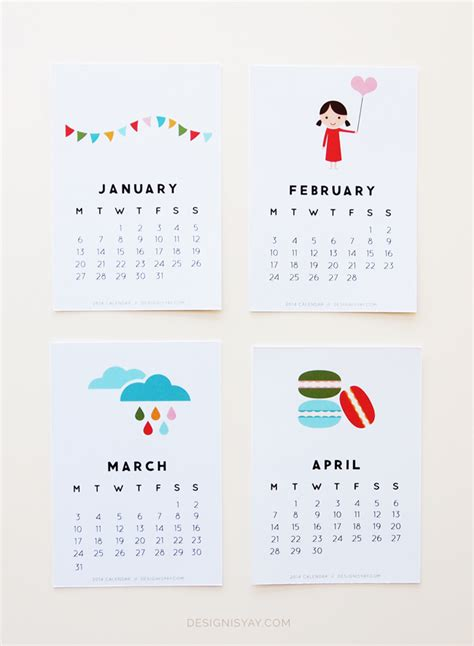 calendar design with photos free quot year of colour quot printable calendar 2014 design is yay
