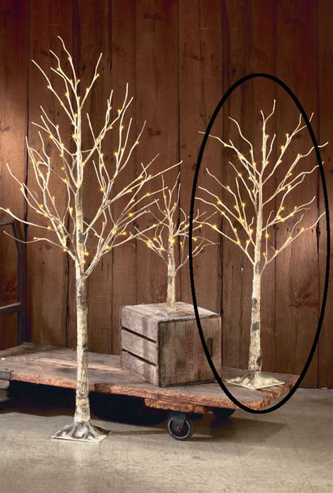 lighted trees home decor decorative led lighted brown birch tree branch accent 52