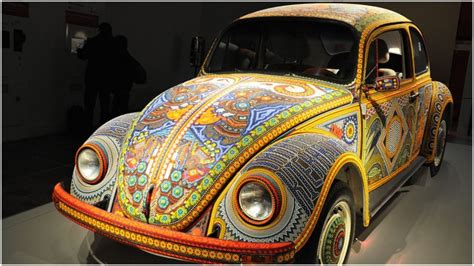 Decorated Vw Beetle by Vochol The Volkswagen Beetle Decorated With More Than 2 Million Glass