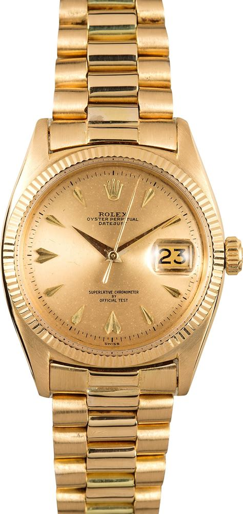 golden rolex vintage rolex gold datejust 6605