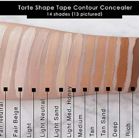 light medium honey tarte shape 48 tarte other tarte shape concealer light