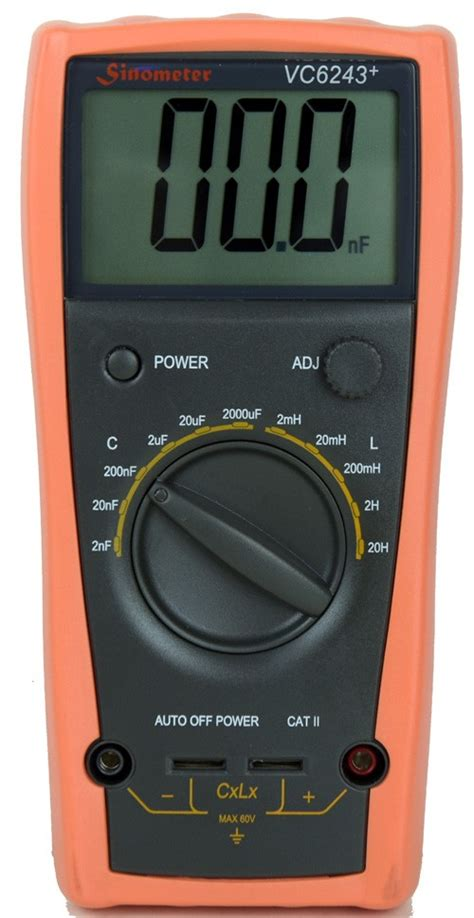 measuring an inductor with a multimeter sinometer vc6243 an l c meter dedicated to measure inductance and capacitance