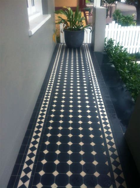 federation tessellated ceramic tiles   oxley pattern