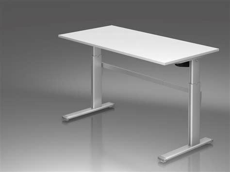 Schreibtisch 130 X 80 by Schreibtisch 160 X 80 Cm Elektrisch H 246 Henverstellbar Alu