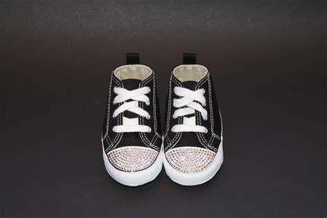 Black Crib Shoes by Funky Black Converse Crib Shoes