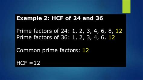 finding prime factors of n and their multiplicities high common factor hcf