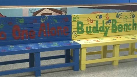 buddy bench at school n b school implements buddy benches ctv atlantic news