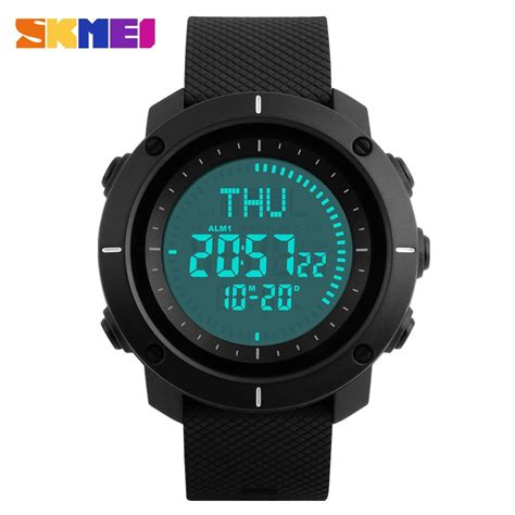 Jam Tangan Led Skmei Digital skmei jam tangan digital pria dg1216cm black
