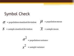 Opulate Meaning Population Standard Deviation Symbol