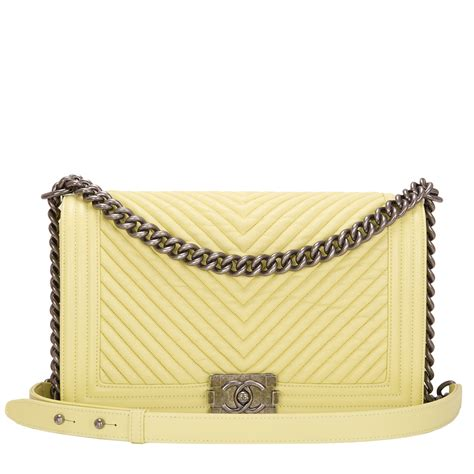 Ff Chanel Chevron Medium chanel yellow chevron new medium boy bag world s best