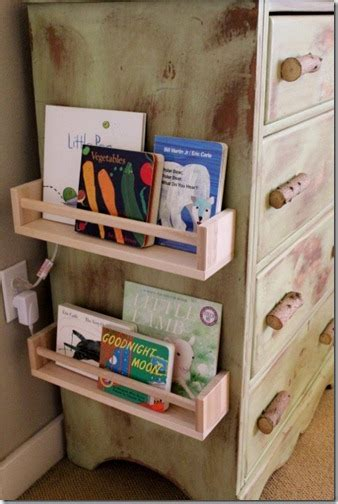 nursery diy how we turned our dresser into a bookshelf