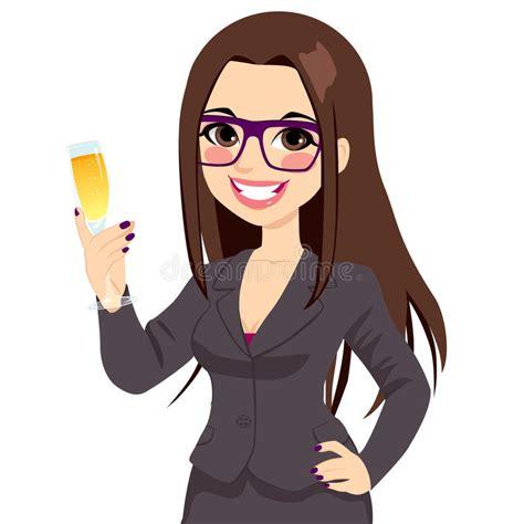 imagenes de personas haciendo ok successful brunette businesswoman toasting chagne stock