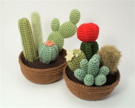 pattern crochet cactus cactus collections 1 and 2 eight crochet patterns