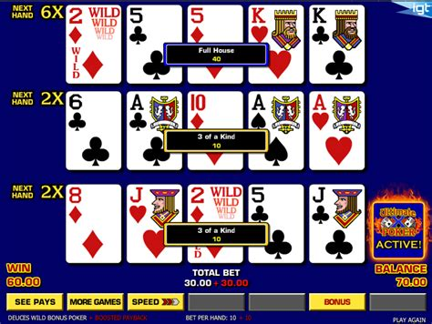 play ultimate  triple play poker   spins  deposit