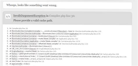 view layout not found laravel laravel problems view path not found