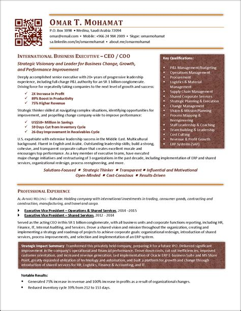 Cfo Resume by Award Winning Executive Resume Exles