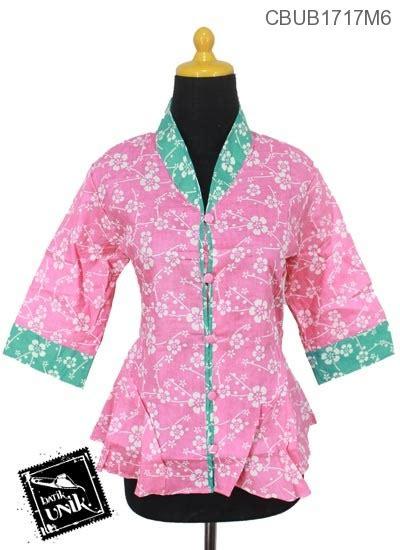 Blus Kembang Murah blus gotik motif kembang krokot blus tanggung murah batikunik