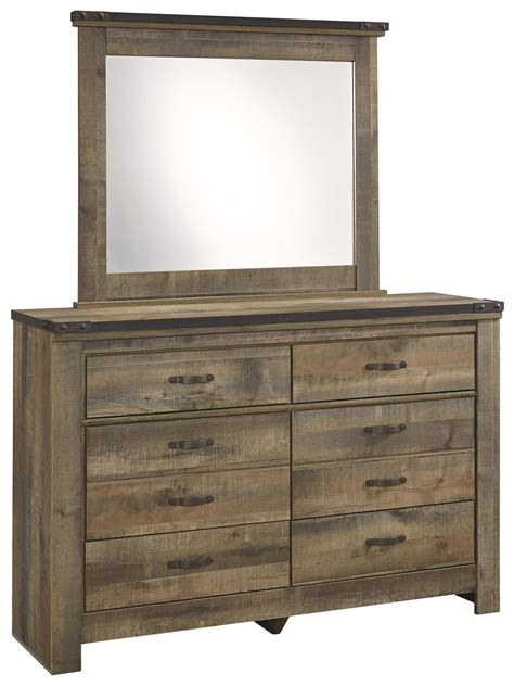 metal dressers bedroom furniture signature design by ashley trinell rustic look youth