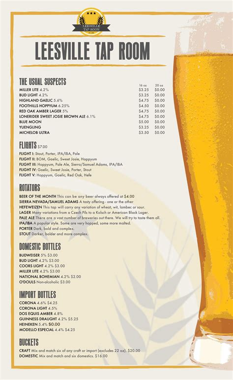 leesville tap room click to view