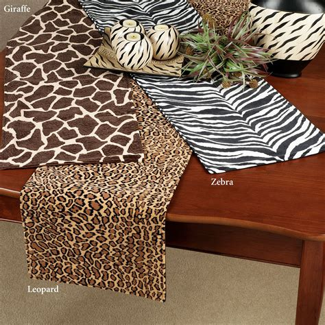 leopard table runner animal print table runners these polyester cotton