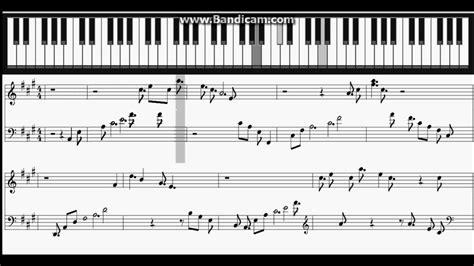 tutorial piano final fantasy final fantasy xv stand by me piano sheet youtube