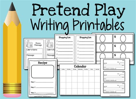 free printables and ideas for pretend play