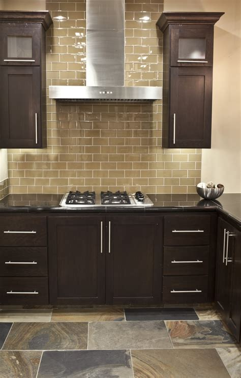 glass subway tile kitchen backsplash benefits of using subway tile backsplash decozilla
